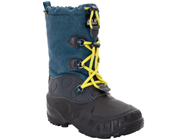 Jack Wolfskin Iceland Texapore High Saappaat Lapset, blue/lime